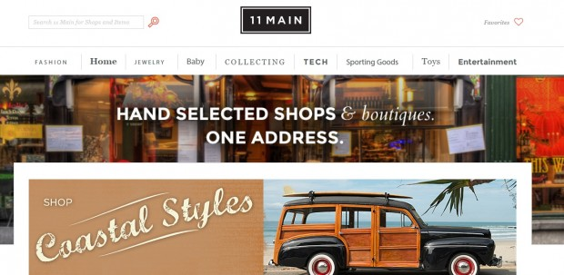 11 Main launched a year ago as a collection of online boutiques.