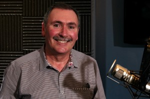 F5 CEO John McAdam in the KIRO Radio studios (Erynn Rose photo).