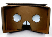 Google's Cardboard headset, fully assembled