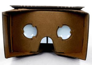 Google's Cardboard headset, fully assembled