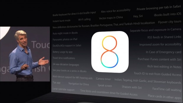 Craig Federighi shows a whole bunch of new features off at WWDC (click to enlarge)
