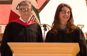 Bill and Melinda Gates at this year's Stanford Commencement.
