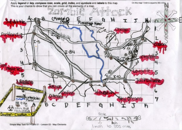 A student zombie map.