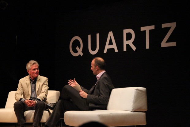 Amazon's architect, Scott Wyatt of NBBJ, speaking at the Quartz conference.