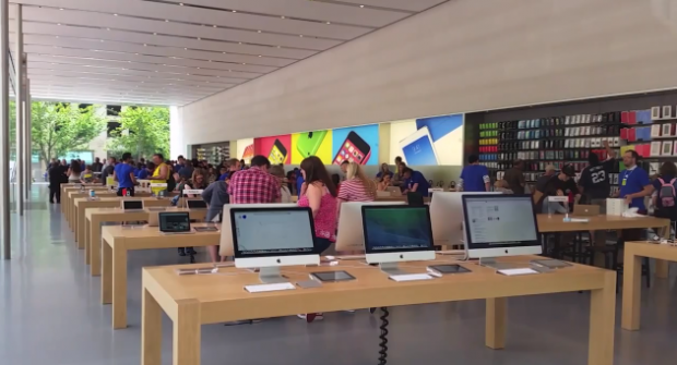 The Apple retail store in Portland