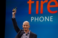 Amazon CEO Jeff Bezos announces the Fire smartphone.
