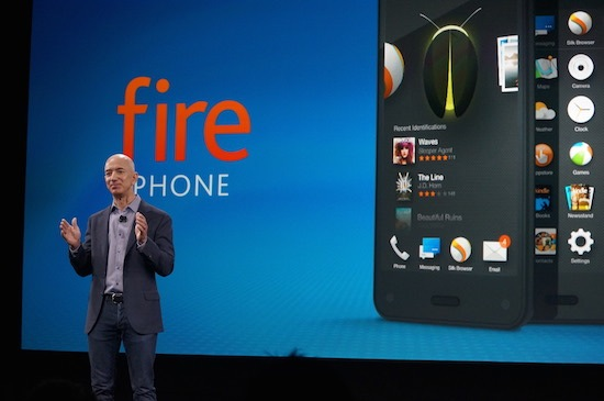 Jeff Bezos unveils the Fire phone.