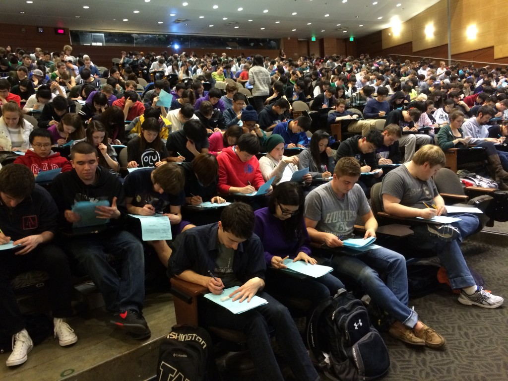 There are more than 250 UW computer science students in one class — intro to coding. Photo via