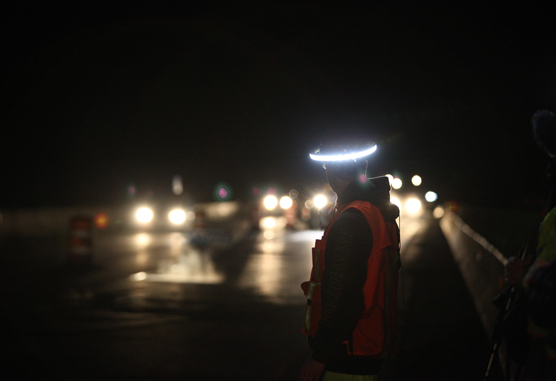 The Illumagear device is designed to illuminate workers on the job.