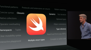 Craig Federighi unveils Swift at Apple's Worldwide Developer Conference