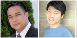 Anomo founders Ben Liu and James Sun.