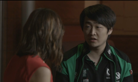 Bai Fan of ViCi Gaming, a team competing in Monday's final, was interviewed by ESPN2.