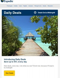 expedia introducing deals
