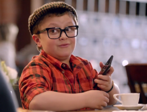 The Amazon Fire Phone commercial features tech savvy kids.