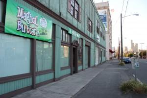 Outside the Magical Butter Studios in Seattle's SoDo neighborhood.