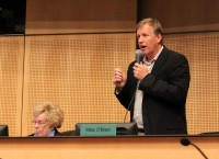 Councilmember Mike O'Brien speaks at last Monday's City Council meeting.