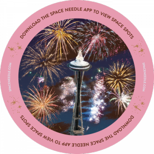 "If you point the new Space Needle app's ""Needle Vision"" at this, you'll see something pretty cool."