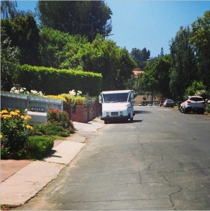 Instagram user embranigan snaps a shot of a postal truck doing its rounds on Sunday.