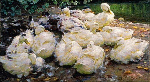 """Moulting Ducks,"" ca. 1900. Charles and Emma Frye Collection."
