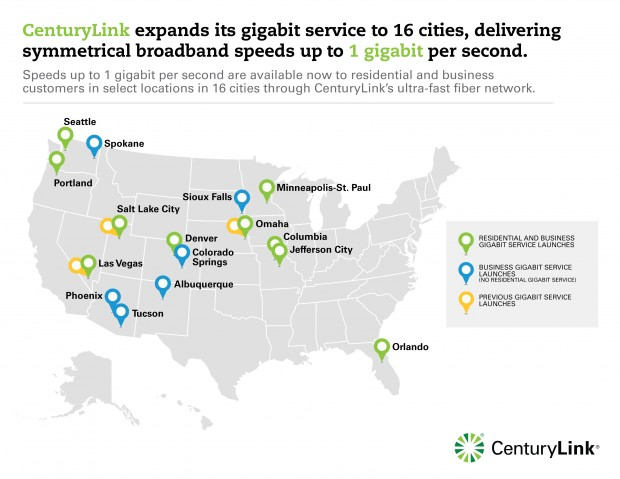 Here's where CenturyLink is installing its high-sd gigabit ... on