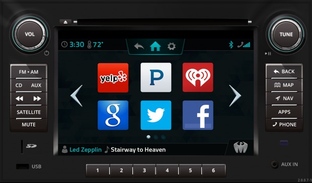 Head Unit with App Selector Screen HMI