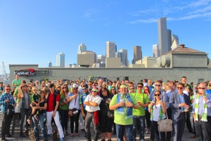 Good times on the rooftop as more than 500 soccer geeks show up for Sounder Day
