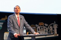 Ron Wyden speaks at TechFestNW on Friday.
