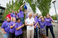 Microsoft CEO Satya Nadella takes the Ice Bucket Challenge. (Photo by Scott Eklund / Red Box Pictures, via Microsoft)