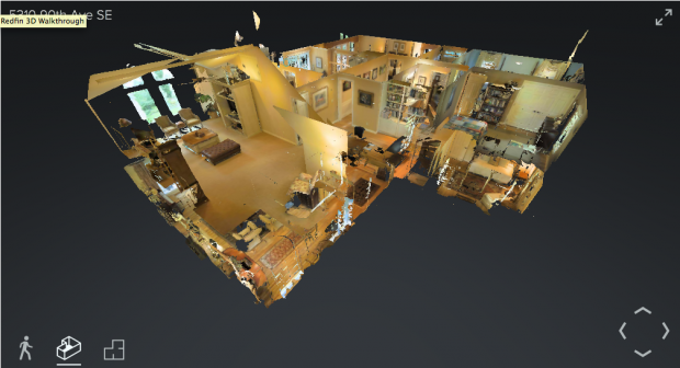 """A home viewed in """"dollhouse mode."""""""