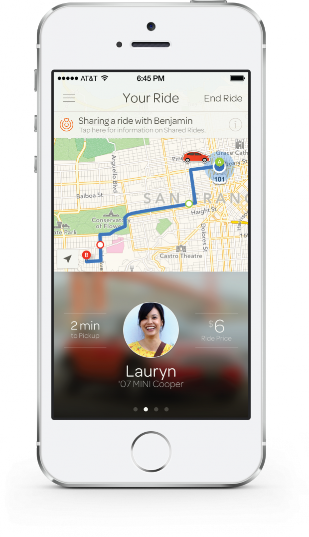Sidecar's Shared Rides feature.