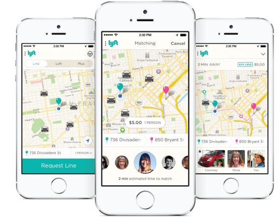 Lyft Line lets people share Lyft rides.