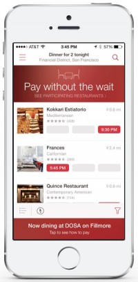 opentable mobile payments