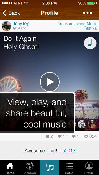 Soundtracking is a social network for sharing and finding new music.