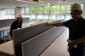 New desks will allow employees to raise and lower heights.