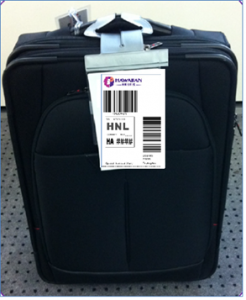 The end of airport check in hawaiian airlines testing pre printed a suitcase bearing one of hawaiian airliness taghome tags sciox Gallery