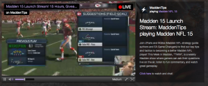 Twitch lets users stream their live gameplay footage.