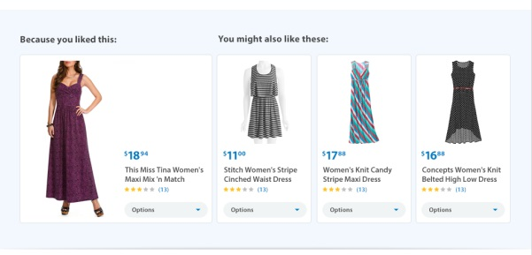 Walmart.com's site redesign will include product recommendations.
