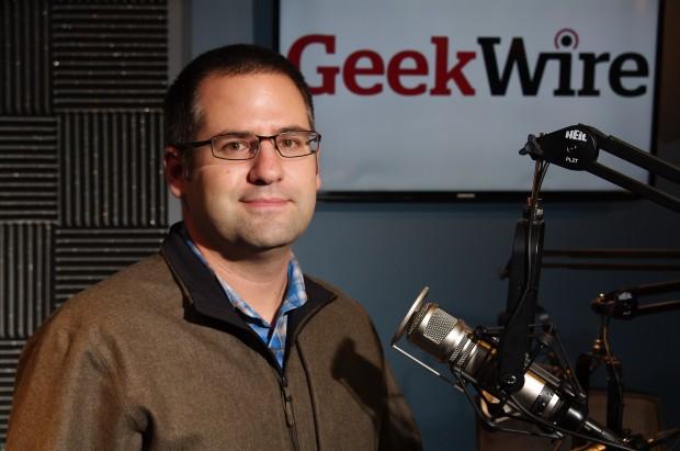 Chad Copeland in the KIRO Radio studios (Erynn Rose photo)