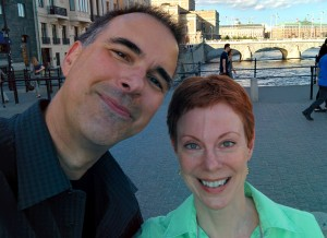 Frank and Dee Dee in Stockholm: the dual selfie