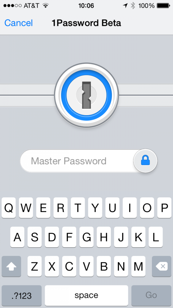 The 1Password extension in Safari