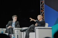 Aaron Levie and Jeffrey Katzenberg