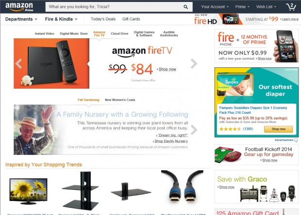 Amazon tests a new homepage that funnels customers into Website home image