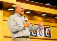 Steve Ballmer at the L.A. Clippers fan fest. Photo via L.A. Clippers