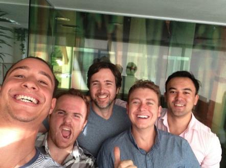 From left to right: Armand, Camilo, Dario, Andrew, Conrad