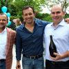 Concur execs Steve Singh, Rajeev Singh and Mike Hilton at the opening of the company's new headquarters in 2013.
