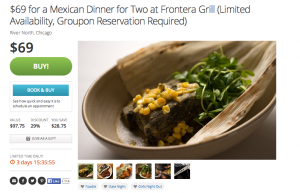 groupon time based deal
