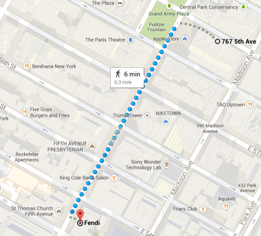The Microsoft store on Fifth Ave will be a short walk from the Apple Store.