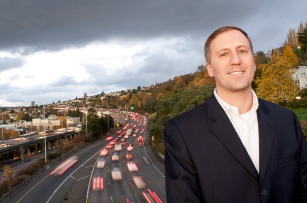 Inrix CEO Bryan Mistele is transforming how companies get traffic information. Photo: Annie Laurie Malarkey