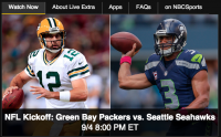 NBC livestreams its Sunday Night games.