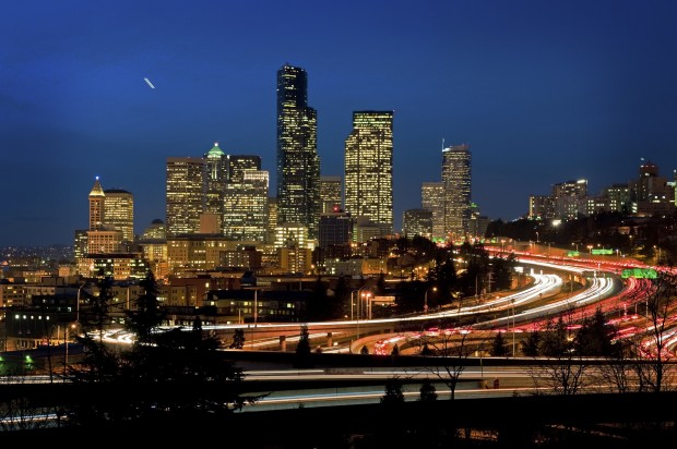 Seattle traffic. Photo via Shutterstock